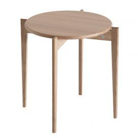 Oscarssons Möbel Tilia soffbord runt 51cm h48 vitpigmenterad ek