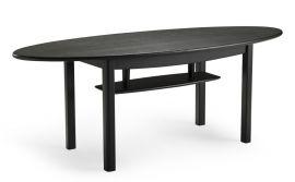 Alicia soffbord oval 140cm h57 svartbetsad ek