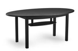 Blanca soffbord oval 120cm h57 svartbetsad ek