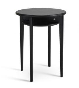 Celia fåtöljbord runt 43cm h55 svartbetsad ek