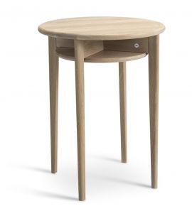 Celia fåtöljbord runt 43cm h55 vitpigmenterad ek