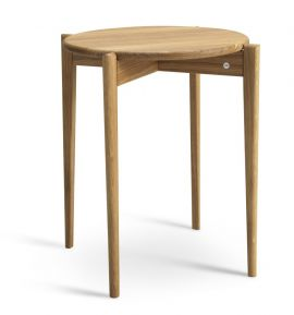 Tilia fåtöljbord runt 43cm h55 oljad ek