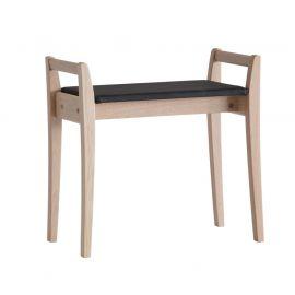 Oscarssons Möbel Meja Hallpall vitpigmenterad ek konstläder svart