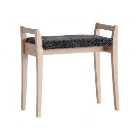 Oscarssons Möbel Meja Hallpall vitpigmenterad ek fårskinn mörkgrå