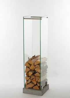 Vedställ i glas 32x120cm Swelek