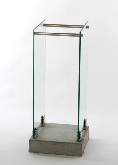 Tidningsställ i glas 32x75cm Swelek