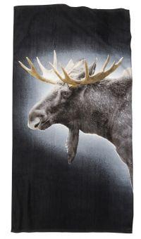 Borganäs Badlakan Älg grå/brun 75x150cm