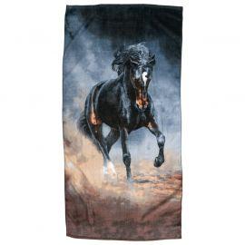 Borganäs Badlakan Häst grå/brun 75x150cm