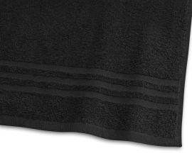 Handduk Basic Frotté 2-pack svart 30x50cm