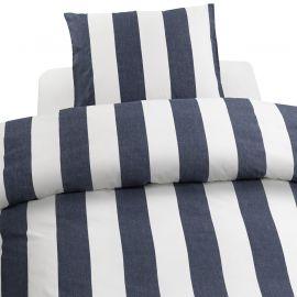 Påslakanset Borganäs Block Stripe blå