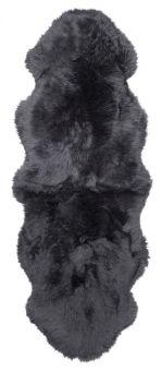 Gently långhårigt Fårskinn 2-set charcoal 180cm Skinnwille