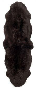 Gently långhårigt Fårskinn 2-set mörkbrun 180cm Skinnwille