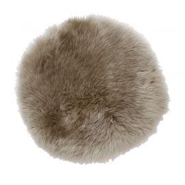 Skinnwille fårskinnssits rund Gently 34cm beige