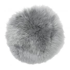 SkinnWille Skinnwille fårskinnssits rund Gently 34cm grå 1-p