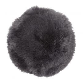 Skinnwille fårskinnssits rund Gently 34cm charcoal