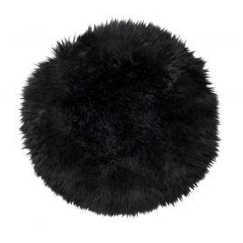 Skinnwille fårskinnssits rund Gently 34cm svart