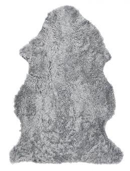 Skinnwille korthårigt fårskinn Curly charcoal/grå 95cm