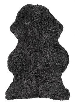 Skinnwille korthårigt fårskinn Curly dark/grå 95cm