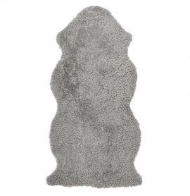 Skinnwille korthårigt fårskinn Curly natural/grå 135cm