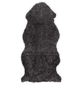 Skinnwille korthårigt fårskinn Curly dark/grå 135cm