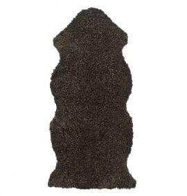 Skinnwille korthårigt fårskinn Curly brun 135cm