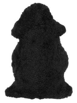Skinnwille korthårigt fårskinn Curly svart 95cm