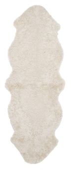 Skinnwille korthårigt fårskinn Curly beige/moonlight 180cm