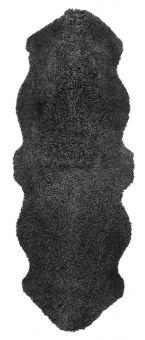 Skinnwille korthårigt fårskinn Curly dark/grå 180cm