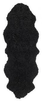 Skinnwille korthårigt fårskinn Curly svart 180cm