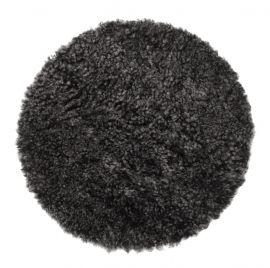 Skinnwille fårskinnssits rund Curly dark/grå 34cm 1-p