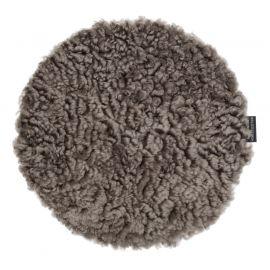 Skinnwille fårskinnssits rund Curly sahara 34cm 1-p