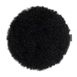 Skinnwille fårskinnssits rund Curly svart 34cm 1-p