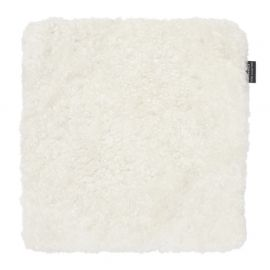 Skinnwille fårskinnssits Curly vit 40x40cm