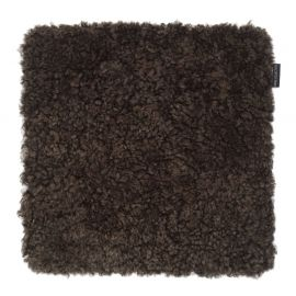 SkinnWille Skinnwille fårskinnssits Curly brun 40x40cm