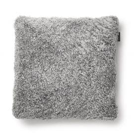 SkinnWille Kuddfodral fårskinn Curly charcoal/grå 45x45cm