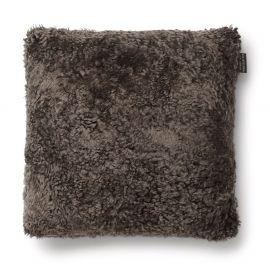 SkinnWille Kuddfodral fårskinn Curly brun 45x45cm