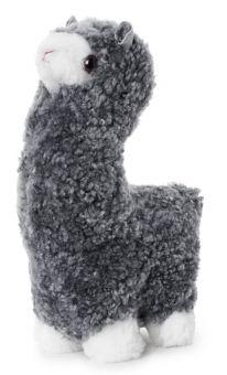 SkinnWille Skinnwille Alpaca mjukt gosedjur i Curly grå 35cm