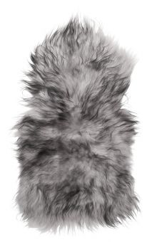 Skinnwille isländskt fårskinnsfäll Molly färgad grå 90cm