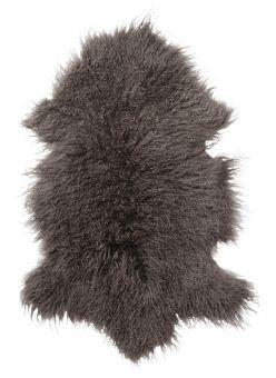 Shansi Lammskinn brun 95cm Skinnwille