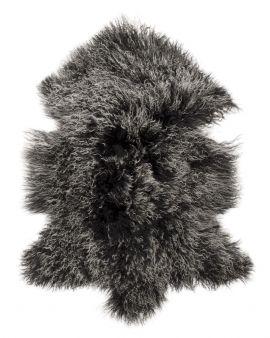 Shansi Lammskinn svart/grå 95cm Skinnwille