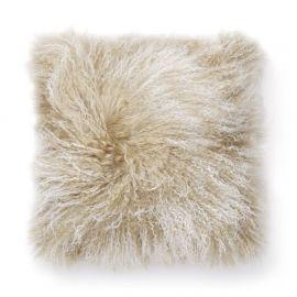 SkinnWille Kuddfodral lammskinn Shansi beige/snowtop 40x40cm