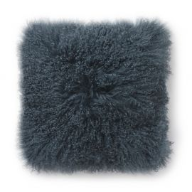 SkinnWille Kuddfodral lammskinn Shansi dark/blå 40x40cm