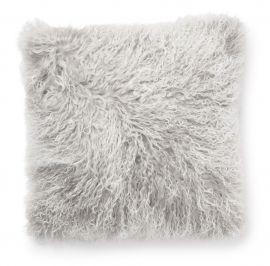 SkinnWille Kuddfodral lammskinn Shansi ljusgrå/snowtop 40x40cm