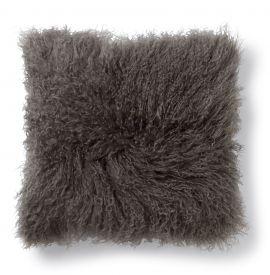 SkinnWille Kuddfodral lammskinn Shansi brun 40x40cm