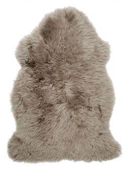 Gently långhårigt Fårskinn beige 100cm Skinnwille