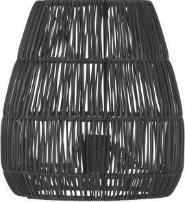 Saigon Lampskärm Konstrotting svart 38cm PR Home