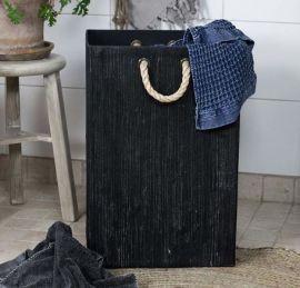 Månsing Tvättkorg Böddalonse strå mörkgrå 60cm