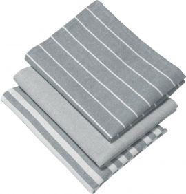 Alba Kökshandduk 3P grå 50x70cm
