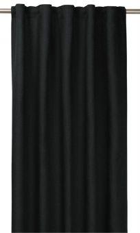 Tuva Gardin 1p svart 140x280 cm