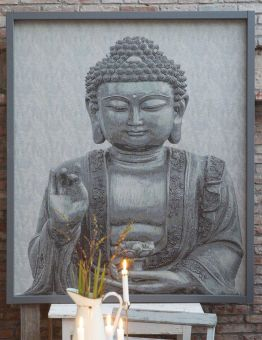 Buddha Bonad grå 140x160cm